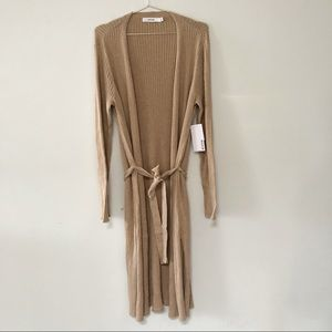 Justfab duster cardigan, ribbed knit, belted